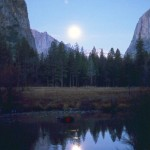 Moon over the Merced River