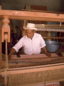 Textile worker, Oaxaca, Mexico