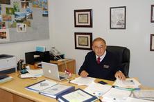 David Ramirez in his office