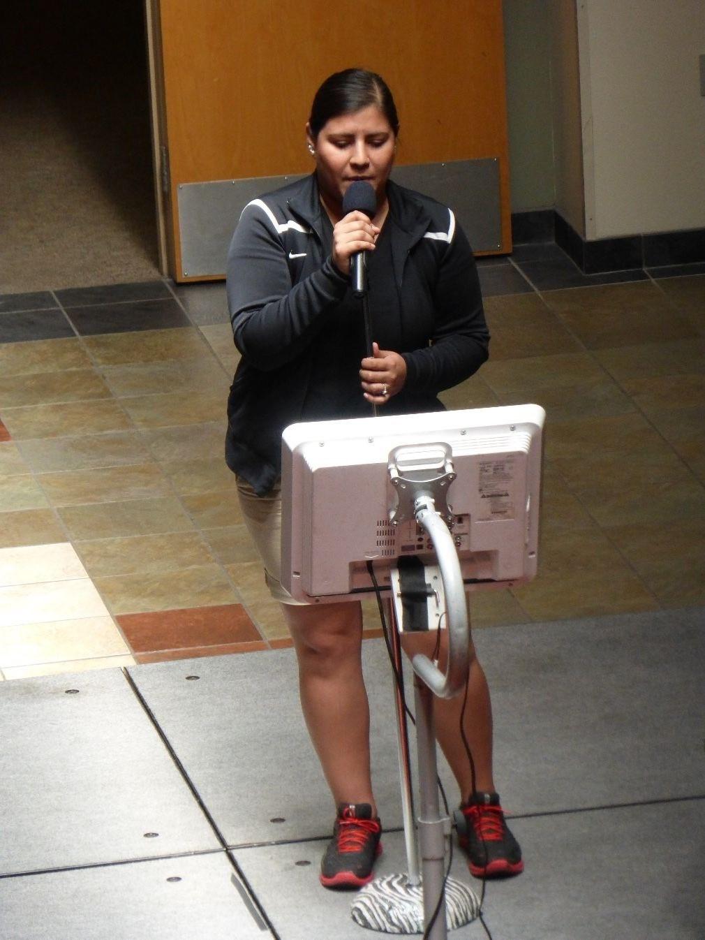 Speaker on Student Quad at UNM
